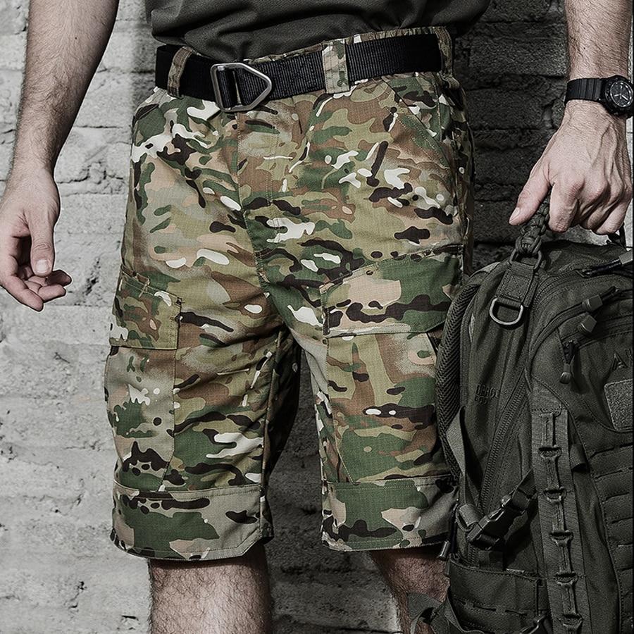 Taktis Celana Pendek Kargo Militer Pria Army Kamuflase Cargo Fashion Laki Polisi Khusus Pakaian Kantong Kasual Militar Tactiques Di