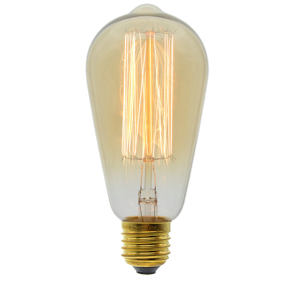 incandescent bulb e27 60w 220v st64 retro edison light bulb for