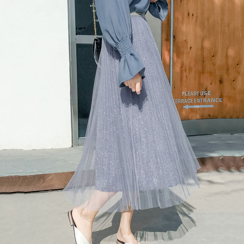 1pcs Elastic Hight waist skirts Women