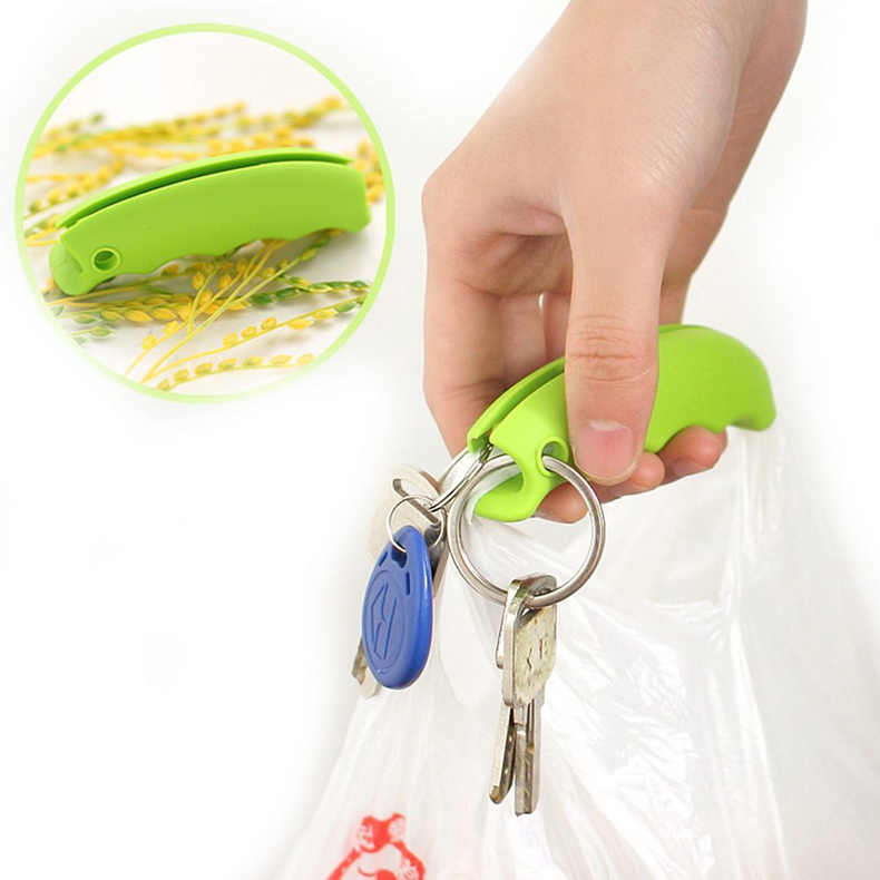 1 PC Bag Carrying Handle Tools Silicone Knob Relaxed Carry Shopping Handle Bag Clips Handler Kitchen Tools