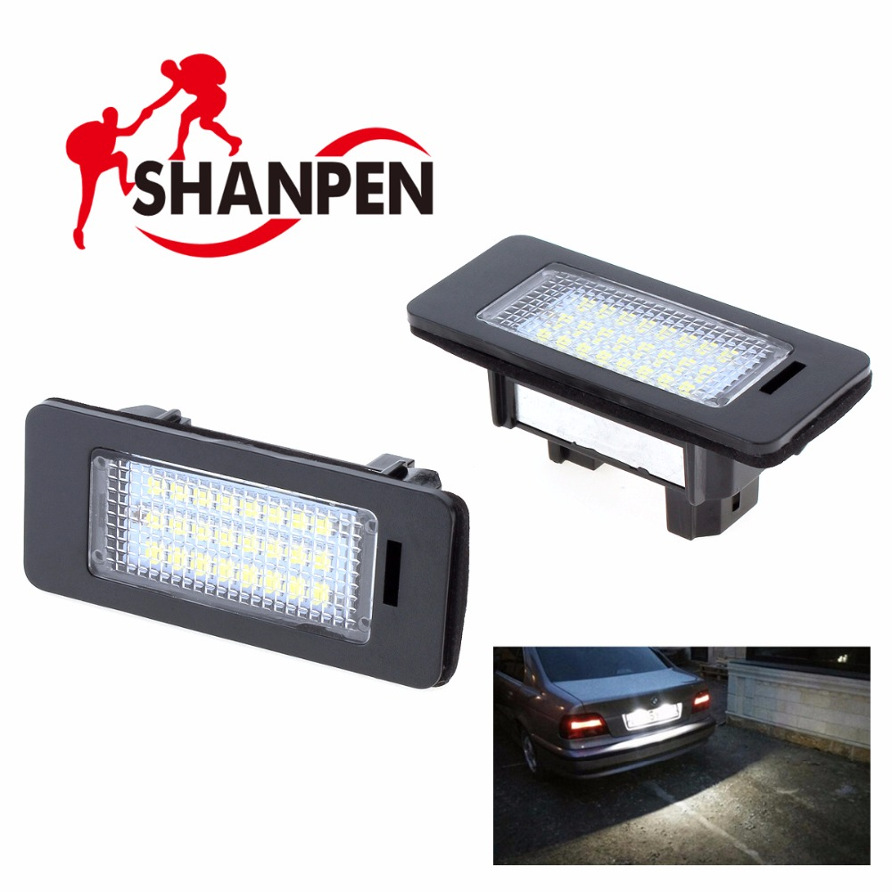 2pcs  Car LED License Plate Light Xenon White Color Lamp for BMW E39 E60 E61 E70 E82 E90 E92 12V SMD3528 2pcs 24 smd car led license plate light lamp for bmw e90 e82 e92 e93 m3 e39 e60 e70 x5 e39 e60 e61 m5 e88