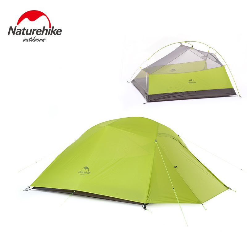 Naturehike 3 Person Ultralight Tent Camping Double Layer Tent Outdoor Hiking Picnic Waterproof Tent NH15T003-T coolwalk 3 4 person dome tent windproof waterproof double layer tent outdoor hiking camping beach tent picnic family tents