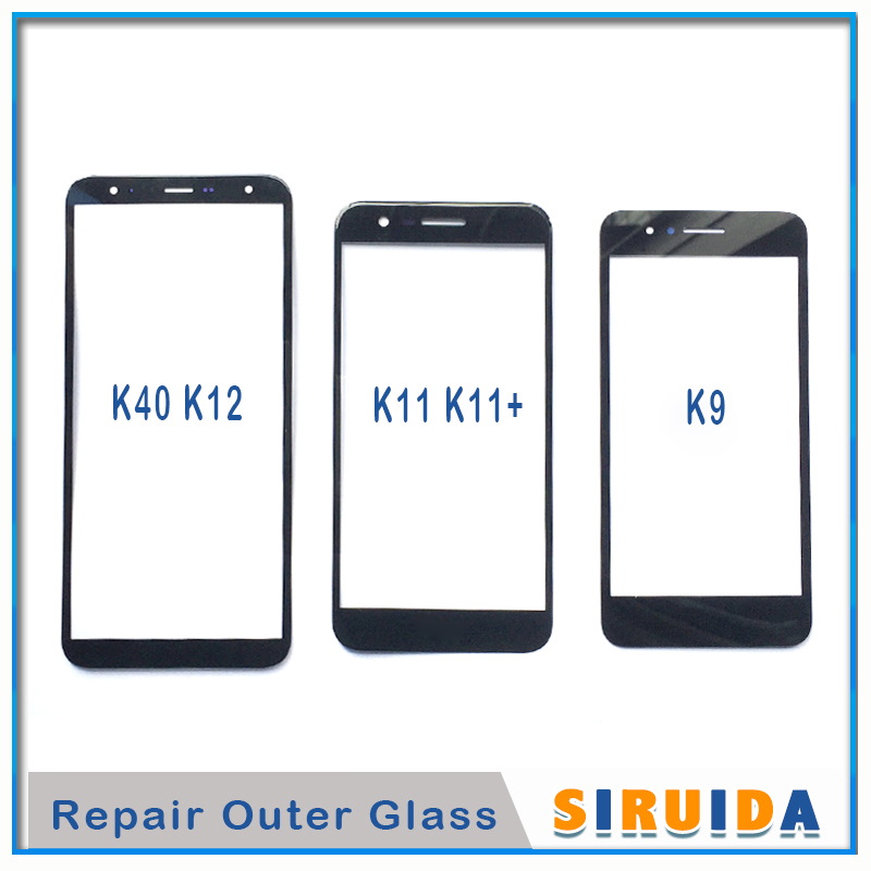 10pcs Front Outer Screen Glass Lens For Samsung A5 J8 J6 J4 and For LG Q6 K9 K11 K12 Touch Screen LCD Cover Replacement