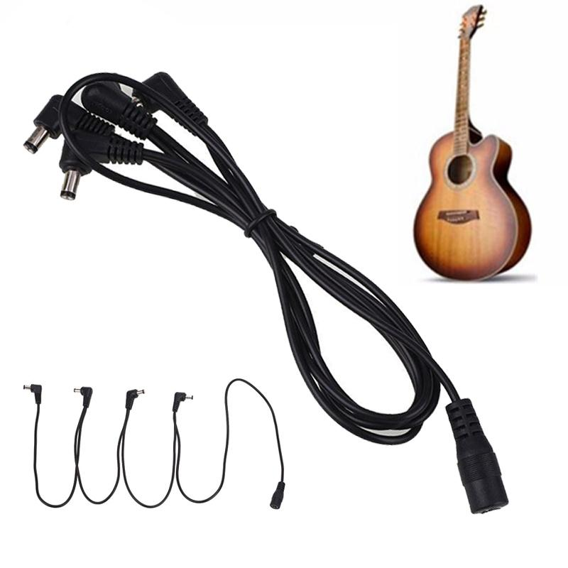 4 Way 9V Guitar Effect Pedal Daisy Chain Cable Cord Copper Wire Power Supply Cable Splitter Adapter Electric Guitar