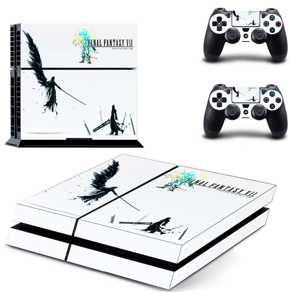 Game Final Fantasy PS4 Skin Sticker Decal for Sony PlayStation 4 Console and 2 controller skins PS4 Stickers Vinyl Accessory