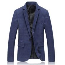 Suit Jackets Plus Size High Quality Spring Fashion Plaid Men Casual Jacket 2017 Hot Sale Slim Fit Brand Clothing Blazer Men 5XL