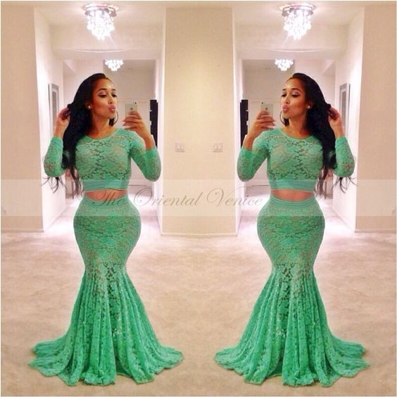 Popular Lime Green Mermaid Dress-Buy Cheap Lime Green Mermaid ...