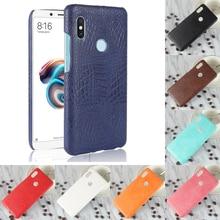 купить For Xiaomi Redmi Note 5 Note5 Luxury Crocodile PU Leather Skin Hard PC Back Cover protective Case For Xiaomi Redmi Note 5 Pro по цене 292.44 рублей