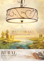 Brief american crystal ceiling light nordic brief fabric bar counter lamps