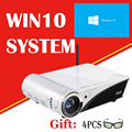 Nierbo windows 10 dlp 3d 4 k proyector led hd 10080 p bluetooth wifi home theater proyectores hdmi apoyo miracast airplay