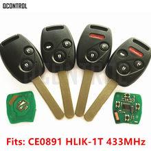 QCONTROL السيارات مفتاح بعيد دعوى لهوندا CE0891 HLIK-1T أكورد عنصر الطيار CR-V صالح إنسايت مدينة جاز أوديسي فلييد 433MHz HR-V
