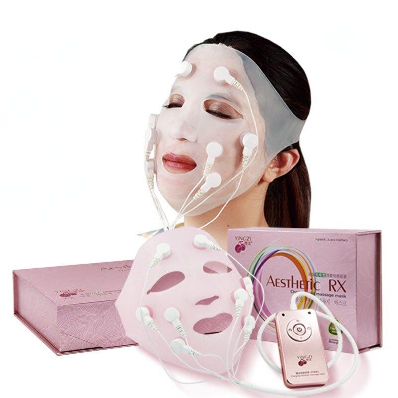 2016 de Carregamento USB vibração massagem Facial Rápida máscara face lift V Rosto Chin Cheek Levante Slimming Magro Massageador 110 V-240 V