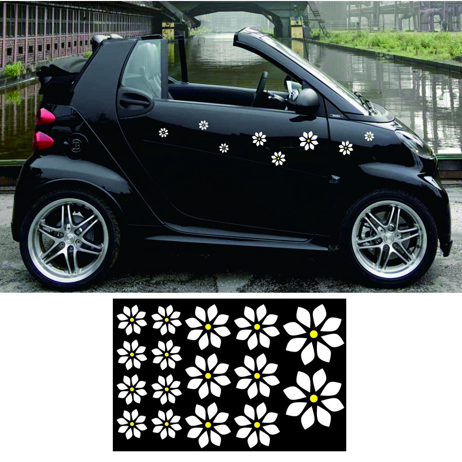 Free shipping 16 flowers romantic graphic vinyl for for smart truck motobike helmet china
