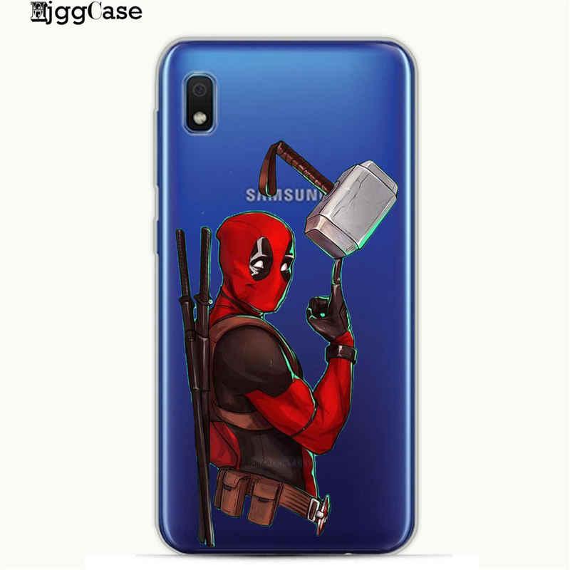 سوبر بارد الأعجوبة Deadpool بطل السوبر الهاتف حقيبة لهاتف سامسونج غالاكسي A10 A20 A30 A40 A50 A70 A7 A6 A8 S9 S10 زائد لينة غطاء من البولي يوريثان الحراري