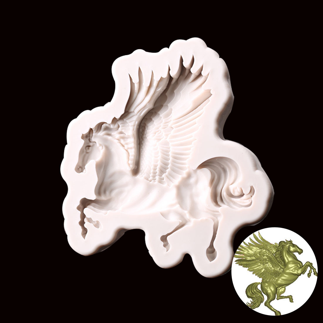 Silicone Fondant Mold 3d Horse Cake Decorating Tools Chocolate Baking Moulds Pegasus Soap Cake Mold H356 Leather Bag