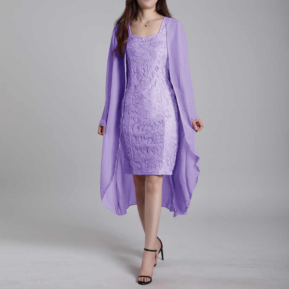 Элегантное кружевное летнее платье для женщин 2019, Повседневное платье размера плюс, обтягивающее осеннее офисное облегающее платье, сексуальное винтажное платье с разрезом сзади, комплект с накидкой