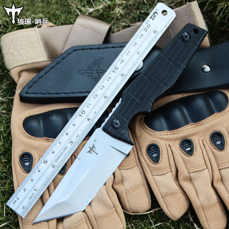 Voltron outdoor camping survival knife, high hardness tactical hunting EDC self defense sharp straight diving knife цена и фото