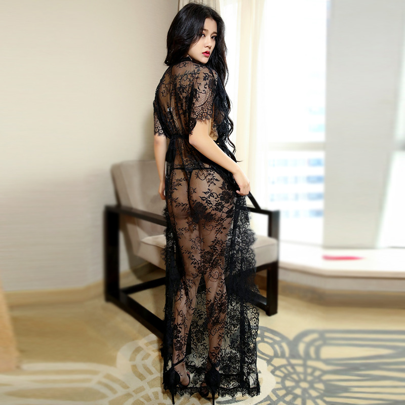 Formal Gown Sexy - Porn Women Hot Costumes Sexy Dress Underwear Black Erotic Lingerie Lace  Transparent Dancewear Elegant Sleepwear Robe Night Gown-in Babydolls &  Chemises from ...
