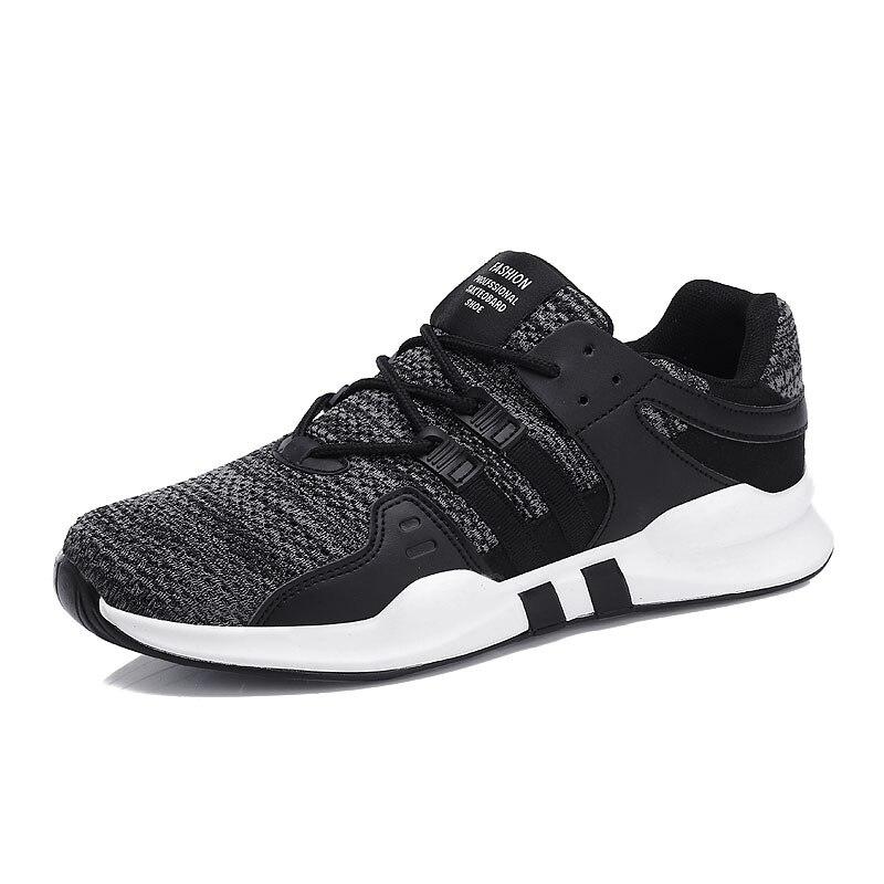 Tênis de corrida para homem mulher 2018 Outono Calçados Esportivos adulto  Ventilação Malha Atlético Sneakers lace up feminino formadores jogging em  Tênis de ... 395fd94f92078