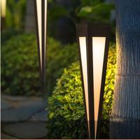 공원 삼각형 플러그인 잔디 빛 큰 서 led 거리 빛 광장 led 잔디 램프 방수 야외 정원 풍경 빛