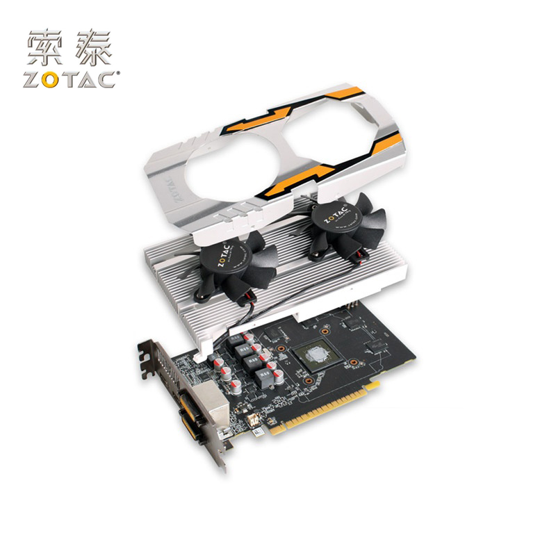 Original ZOTAC GeForce GTX 650-1GD5 Graphics Card HA For NVIDIA GT600 GTX650 1GD5 1G Video Cards 128bit GDDR5 Used 6501GD5 5400 цена