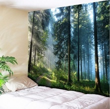 Rainbow Forest Natural Four Seasons Scenery Printed Large Tapestry Wall Hanging Bohemian Wall Tapestry Mandala Wall Art Decor happy easter letters printed tapestry wall art
