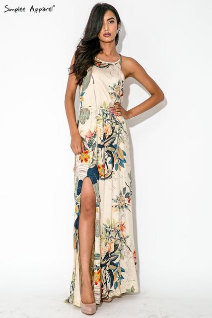 d10a40c22131 New Fashion Summer Women Top 2015 Spanish Style Dress Bohemian Style Flower  Print Dress Women s Fashiong Loose Maxi Dresses