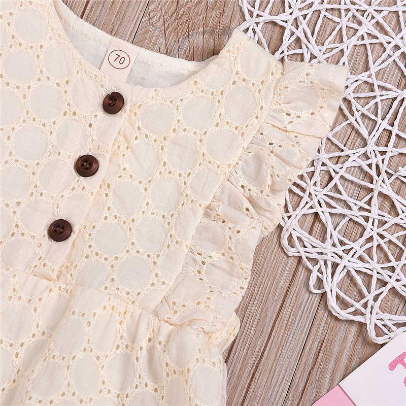 Bebé recién nacido niños niñas de encaje sin mangas mono lindo trajes caliente nueva ropa de bebé niña Hallow Out Body de bebé