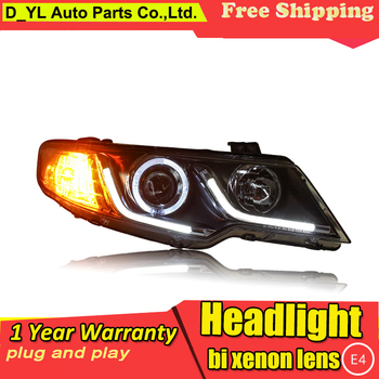 Car Styling Headlights for Kia Forte 2009-2012 LED Headlight for Forte Head Lamp LED Daytime Running Light LED DRL Bi-Xenon HID