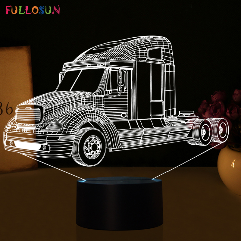 Fashion Truck Car 3D LED Lights LED Sensor Table Lamp LED 3D USB Lamp as Home