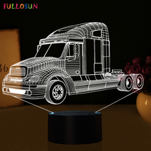 Fashion Truck Car 3D LED Lights LED Sensor Table Lamp LED 3D USB Lamp as Home Art Decorations
