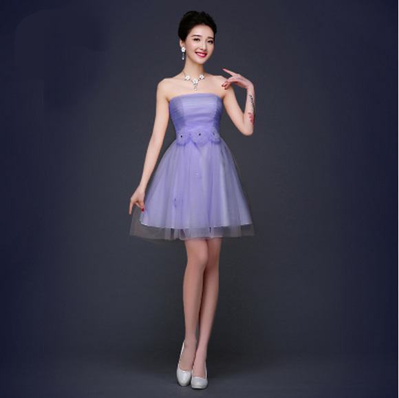 Lavender Cheap Modest Short Sweet Sixteen Tulle Homecoming