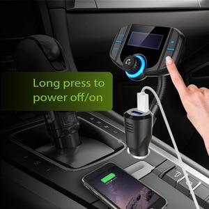 Fm-передатчик с быстрой зарядкой QC3.0 с двумя usb-портами, музыкальный плеер U Disk для автомобиля, MP3, Бесплатная доставка Bluetooth