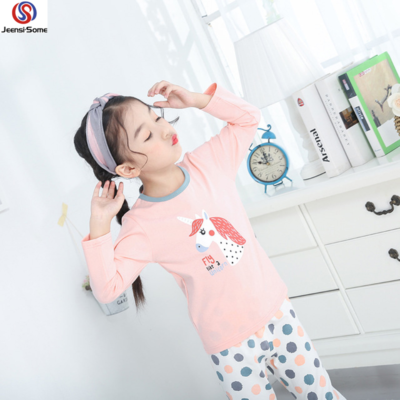 Einhorn Pyjama Kinder Pyjama Unicornio Mädchen Pyjama Cartoon Kinder Baumwolle Pyjama Set Kid Pyjama Fille Enfant Cartoon 3-18Y