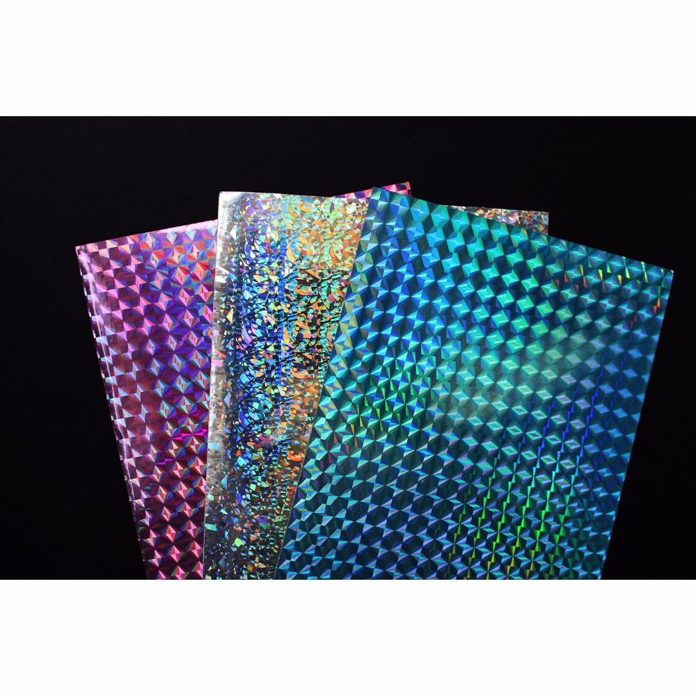 5Pcs Fishing Stickers Laser Fish Holographic Adhesive Film Flash Tape DIY