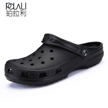 ae68ea6550a84 POLALI 2018 Men Sandals Summer Slippers Shoes Croc fashion beach Sandals  Casual Flat Slip On Flip