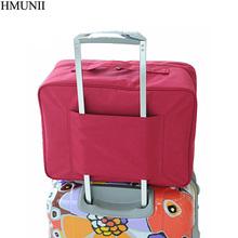 HMUNII damskie torby podróżne podróżne podróżne o dużej pojemności wodoodporna torebka męska walizka na kółkach torba podróżna C1-02 tanie tanio Poliester Wszechstronny 27cm 0 2kg Miękkie 38cm Moda nylon 18cm zipper Stałe WOMEN Podróż torba Red Blue Gray Green