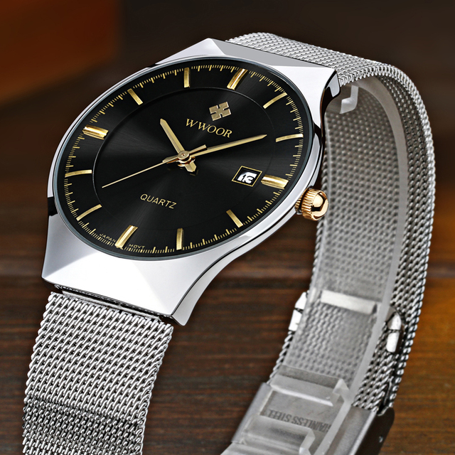 Men's Fashion Ultra-Thin Quartz Wristwatches
