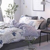 Home textiles simple four piece set sanding aloe cotton sheets quilt cover garden wind cartoon children's bedding comfort