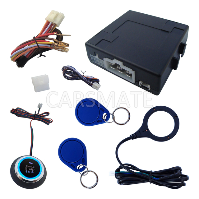 RFID Sistema de Alarme de Carro Com o Arranque Do Motor & Stop Botão Nova Tecnologia Rapidamente o Envio Dentro de 24 Horas