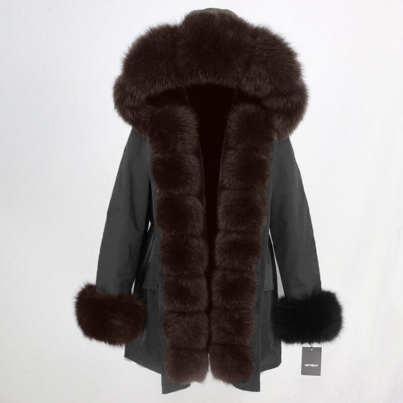 OFTBUY Waterproof Long Parka Winter Jacket Women Real Fur Coat Natural Fox Fur Collar Hood Thick Warm Streetwear Detachable New 55