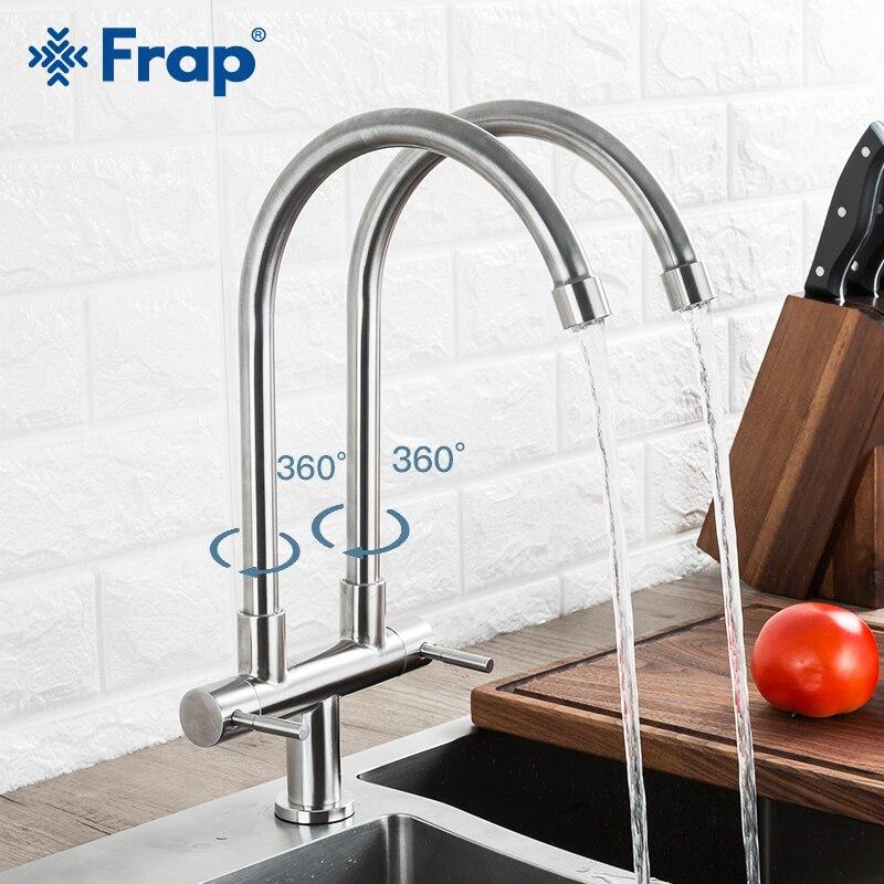 FRAP Kitchen Faucet 360 Degree Rotatable Faucet Kitchen Water Mixer Taps Deck Mounted Faucet grifo de cocina