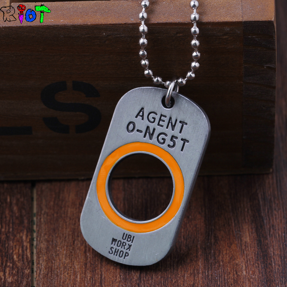 Game Tom Clancys The Division necklace Vintage Ancient Silver Dog Tag Pendant Keychain alloy Keyring key