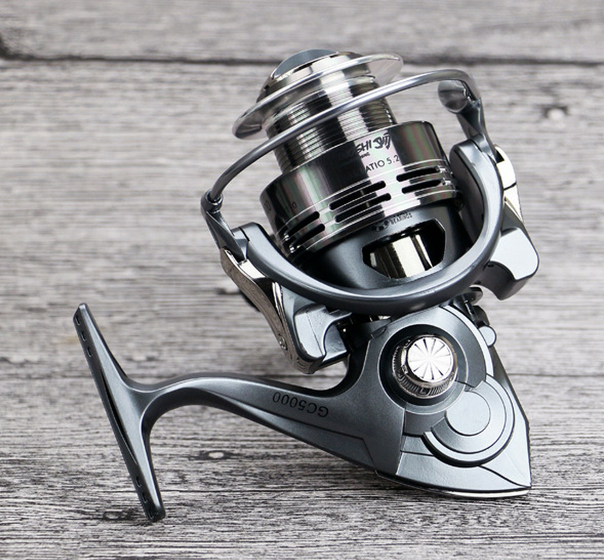 NEW HOT SALES GC2000-7000 pre loading spinning fishing reel 14 Ball Bearings Carbon lightweight Flat EVA Knob