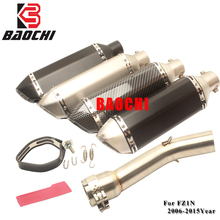 Motorcycle Exhaust Mid Tube Muffler Escape DB Killer for Yamaha Fz1 FZ1N Exhaust System Akrapovic 2006 2007 2008 2009 -2014 2015