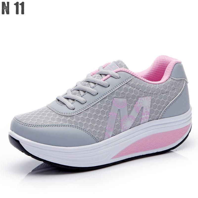 New 2016 Height Increasing Women Casual Shoes Sport Fashion Shoes For Women Platform Swing Wedges Shoes Shoes For Female hot height increasing 2016 summer shoes women s casual shoes sport fashion walking shoes for women swing wedges shoes breathable