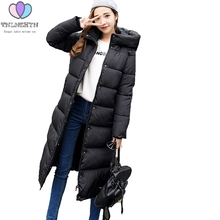 Women Cotton-padded Medium Long 2017New Fashion Korean Slim Thicken Warm Big yards Hooded Winter Down Jacket Padded Jacket G0369