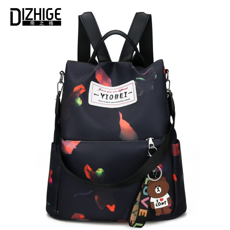 DIZHIGE Brand Luxury Waterproof Oxford Women Anti theft Backpack High Quality School Bag For Women Fashion Multifunctional Bag in Backpacks from Luggage Bags