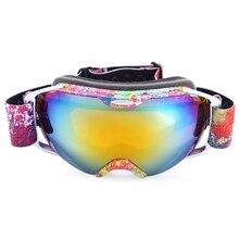 UV Protection Anti-fog Big Skiing Goggles Mask Men Women Snowboarding Glasses Skiing Eyewear Sports Eyewear Anti-slip Unisex