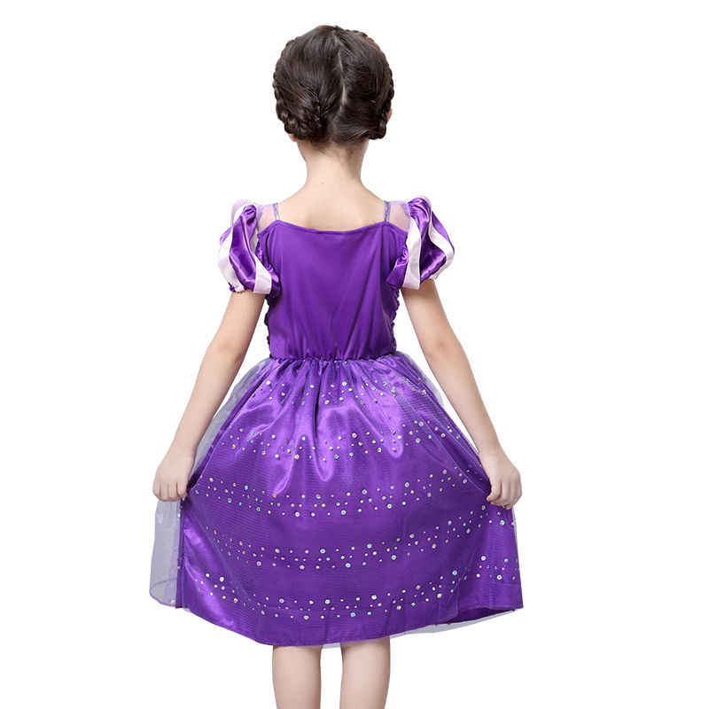 076776bb4 ... Girls Rapunzel Fancy Dress Costume Kids Princess Outfit UK Ages 3/4/5/  ...